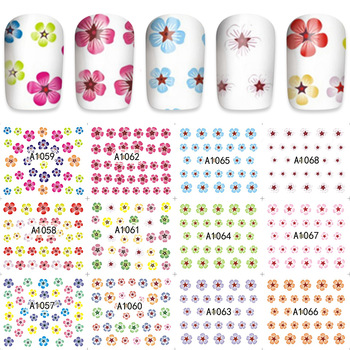Nail Art Water Decals Transfer Sticker Charming Fantastic Flower Pattern Manicure Decor Tools A1057-1068