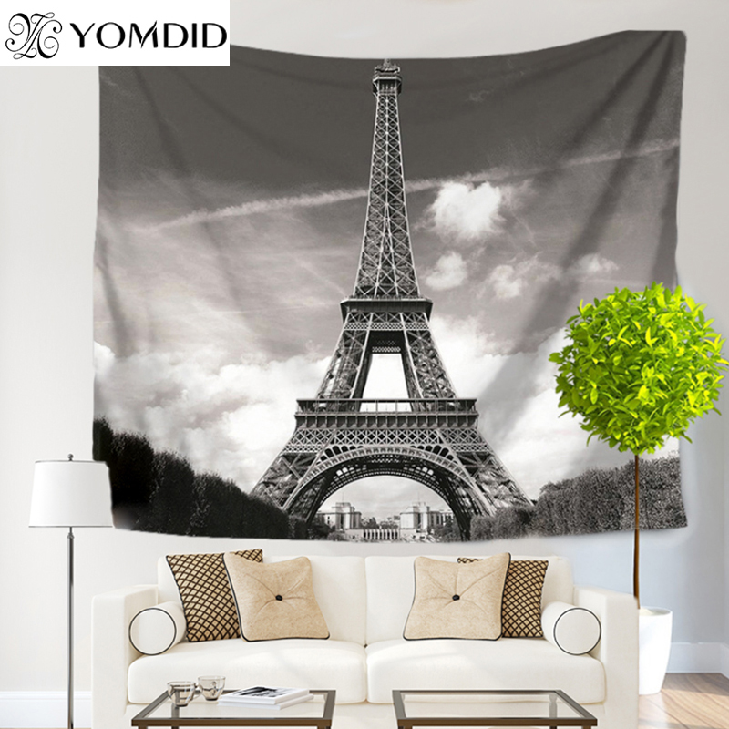 Egyptian Tower Tapestry Tower printed Wall Hanging Tapestries Boho Bedspread Beach Towel Yoga Mat Blanket Table Cloth picnic mat