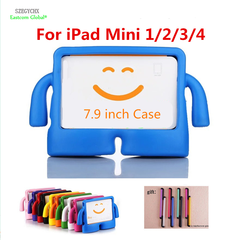 SZEGYCHX , Silicone For iPad Mini 1 2 3 4 Case Thick Foam Shock Proof Soft Stand Tablet Case 3D Cute Cartoon Kids TV Cover for ipad mini 3 2 1 kids fun 3d mini cartoon car childproof silicone protective case blue