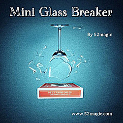 New Mini Glass Breaker card box verson magic tricks magic props magic poker box magic props black