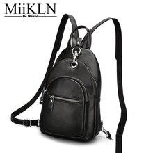 Miikln Женский Путешествия Мини натуральная кожа Для женщин рюкзак мешок сплошной Винтаж рюкзак женщина для школы многие карманные большие пространства