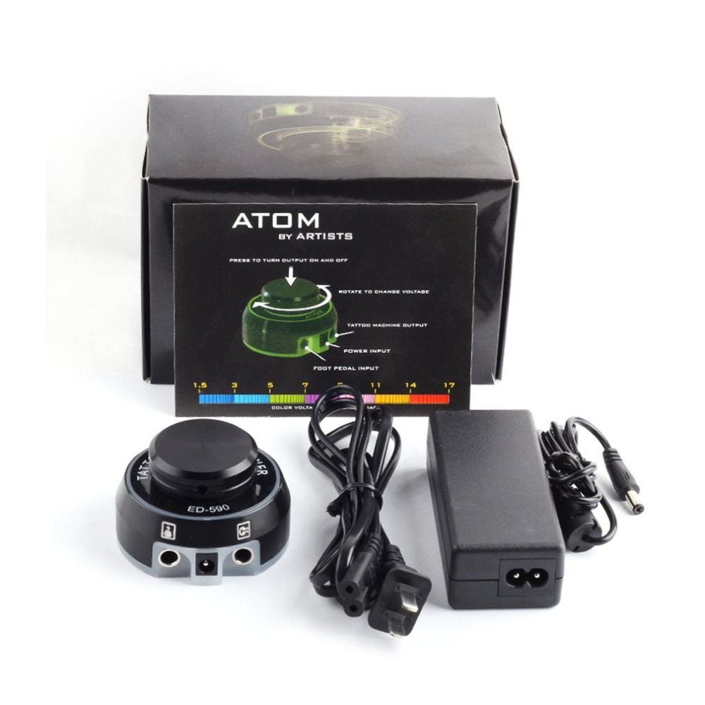цена на ED-590 Tattoo Power Supply Rotary Control Tattoo Machine Power Supply LCD Digital Power for Tattoo Machine Tattoo Kits 2018 New