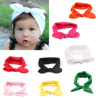 88b0a63da Hot Sale Baby Headbands Cute Rabbit Ears Bow Hair Bands Bowknot Headwear  Fotografia Lacos De Cabelo Infantil Well T