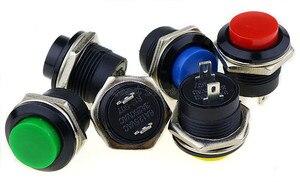 Image 5 - 6 個R13 507 瞬間的なspst no赤黒白黄緑、青ラウンドキャッププッシュボタンスイッチac 6A/125v 3A/250v 6 色