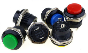 Image 5 - 6 pcs R13 507 רגעי SPST לא אדום שחור לבן צהוב ירוק עגול הכחול שווי כפתור מתג AC 6A/125V 3A/250V 6 צבע