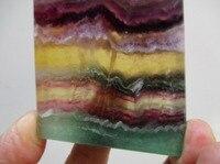 Piękne Purple & Yellow Phantom FreeForm Fluorytu Kryształ Polerowane na prezenty