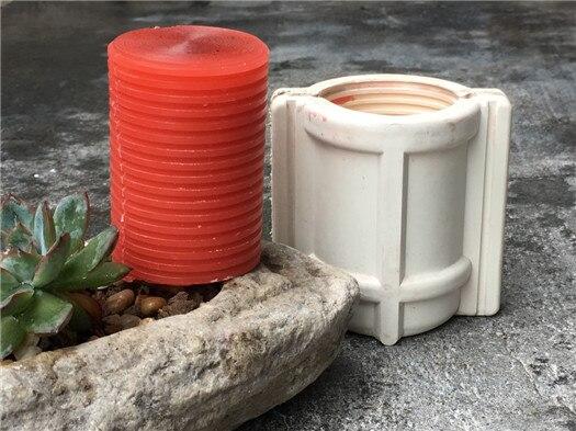 DIY ronda tornillo 4.6*7 cm velas vela, alta temperatura resistente vela molde para DIY