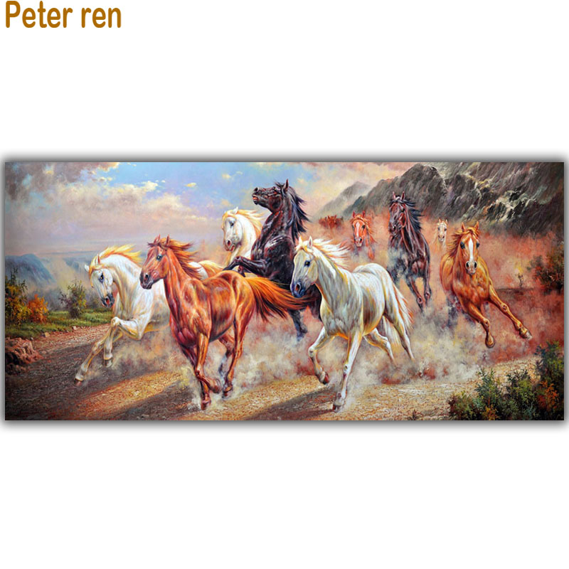 Diy Diamond painting Cross stitch Kit Diamond embroidery Eight Horses Crafts Needlework full 3d Diamond mosaic home improvement