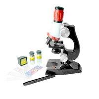 새로운 현미경 키트 실험실 led 1200x 홈 학교 교육 장난감 선물 어린이를위한 생물 현미경 어린이