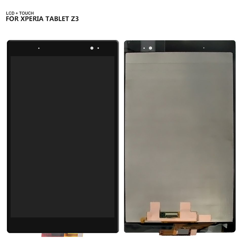 Touch Screen Digitizer Panel LCD Display For Sony Xperia Tablet Z3 SGP611 SGP612 SGP621 TouchScreen Assembly Combo Repair Parts 5 2 black white color lcd display touch screen digitizer assembly for sony xperia z5 e6633 e6603 e6653 replacement parts