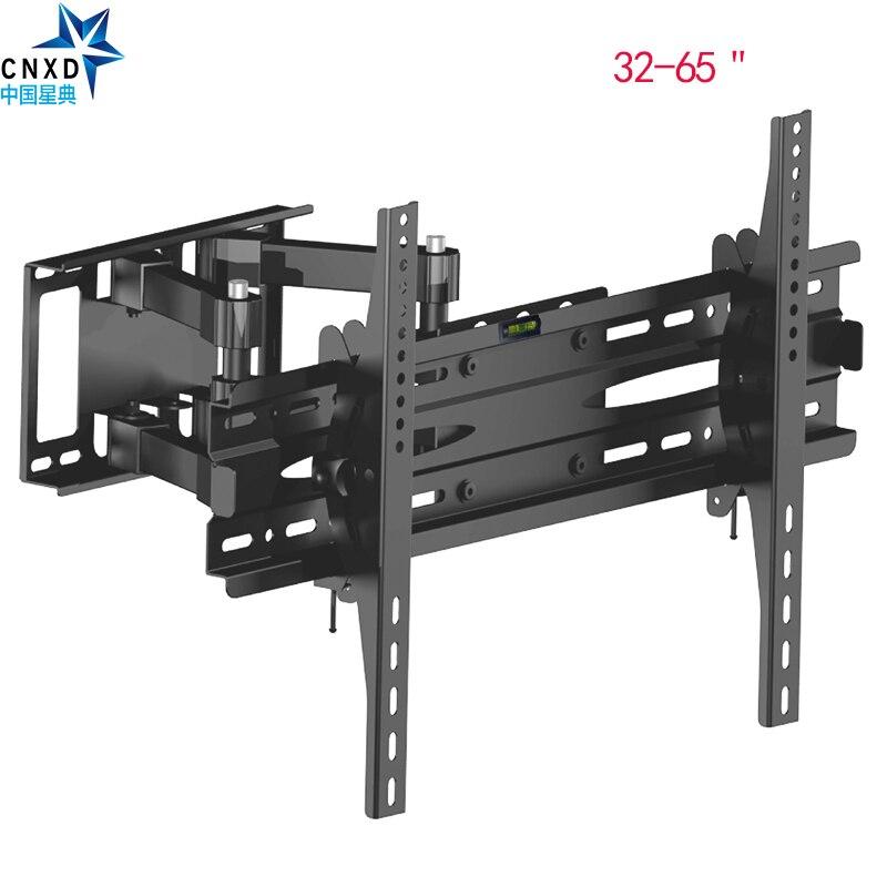 Soporte de montaje de pared de TV de movimiento completo articulado soporte giratorio de inclinación soporte de TV adecuado tamaño de TV 32 ''40'' 42'' 50'' 52'55