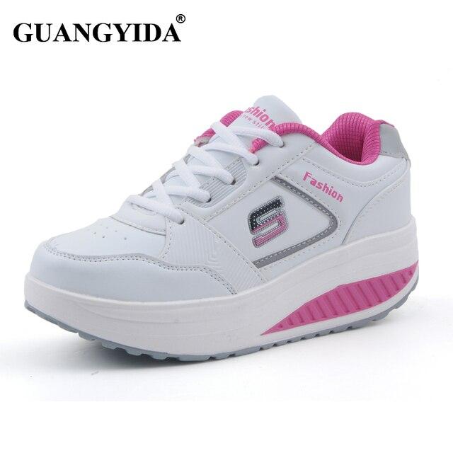 c05c8ebdac345 2017 mujeres zapatillas zapatos para caminar plataforma de adelgazamiento zapatos  mujer fitness zapatos de las mujeres