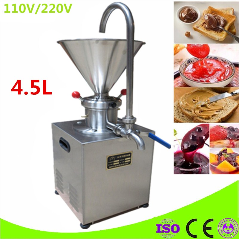 Electric Stainless Steel 4.5L Hopper Peanut Nut Butter Grinder Sauce Pressing Machine Tomato Butter Maker Colloid Mill mini home use electric peanut butter maker making machine nut butter maker sesame walnut sauce butter maker