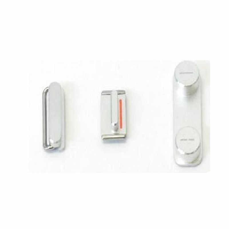 3in1 lado conjunto de chaves para o iphone 5 5S se volume de bloqueio botão chave + interruptor de chave de energia botão de ligar/desligar botão interruptor mudo