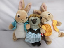 Ty Beanie Babies 6″ 15cm Peter Rabbit Peter the Bunny Plush Regular Stuffed Animal Collection Big Eyes Doll Toy Children's toys
