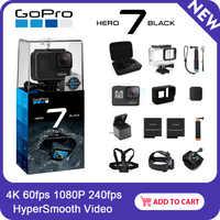 GoPro HERO7 noir caméra d'action étanche avec écran tactile sport Cam Go Pro HERO 7 12MP Photos stabilisation en direct en Streaming