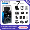 GoPro HERO7 черная Водонепроницаемая Экшн-камера с сенсорным экраном Спортивная камера Go Pro HERO 7 12MP фото прямая стабилизация