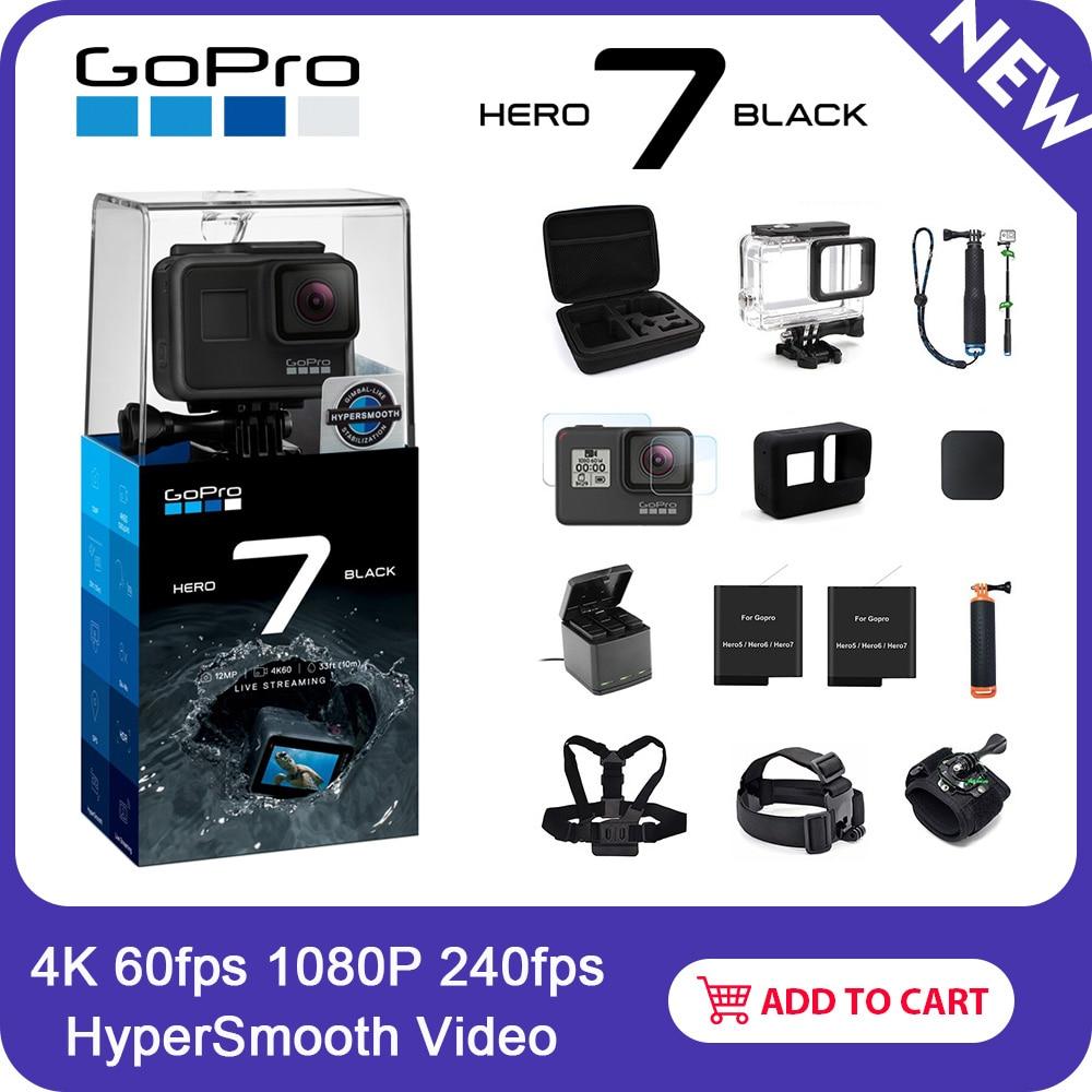 GoPro HERO7 Nero Macchina Fotografica di Azione Impermeabile con Touch Screen Sport Cam Go Pro HERO 7 12MP Foto In Diretta Streaming di Stabilizzazione