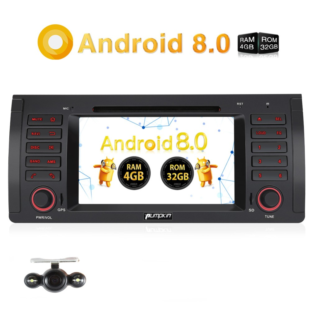 "Pumpkin 2 Din 7"" Android 8.0 Car DVD Player GPS Navigation Car Stereo For BMW E39/M5 4GB RAM Wifi Bluetooth FM Radio Headunit"