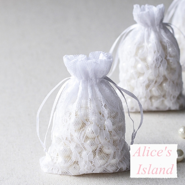 50 Pcs Lace Candy Bag Wedding Bags Favors Party Favours Event Supplies Gifts