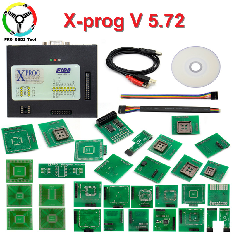 2018 Latest Xprog V5.72 ECU Chip Tunning Better Xprog V5.70 ECU Programmer Interface Update of V5.6 With Additional Function ktag k tag ecu programmer tool ecu chip 6 languages bdm frame with full adapter support more ecu fits for fgtech bdm100 kess
