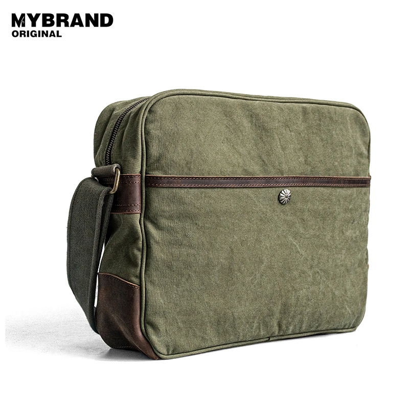 MYBRANDORIGINAL crossbody bag for man men's canvas messenger bag laptop shoulder bags high quality handbag fashion style B80