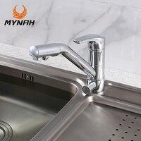 MYNAH Single Handle Single Hole Kitchen Basin Faucet Polished Deck Mounted Cold And Hot Washbasin Mixer
