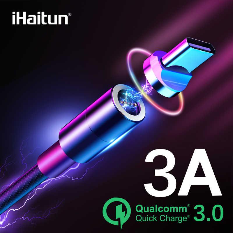 IHaitun מהיר תשלום נתונים USB סוג C מגנט מטען USB המגנטי כבל טעינה עבור סמסונג שיאו mi mi Oneplus חכם נייד טלפון