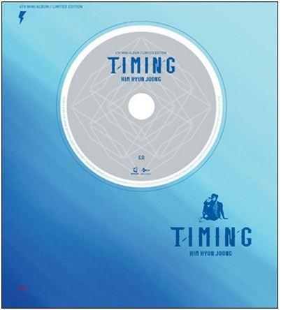 KIM HYUN JOONG - 4TH MINI ALBUM - TIMING (LIMITED EDITION) RELEASE ON 2014-7-10 KPOP ALBUM bts 4th bts 4th mini album pt 2 peach version blue version set 2ea lot photobook 98p 1photocard 2015 12 01 kpop album