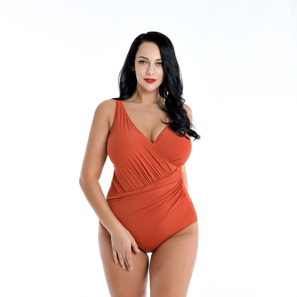 DROZENO Swimsuit Woman One piece swimsuit for ladies Plain and simple swimsuit bathing suit womenBig cup swimsuit Long Sleeves