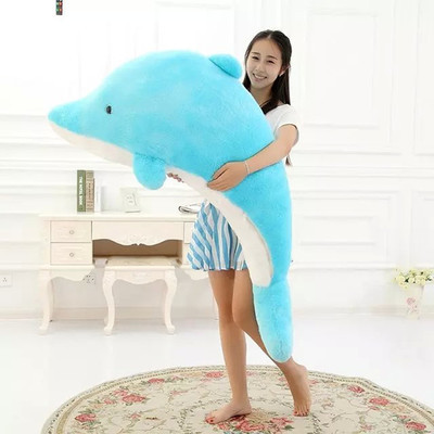60cm Dolphin Lovely Chicken Colorful Plush Toys Birthday Chick Stuffed Doll Blue or Pink whale Gift Stuffing Toy C38 stuffed animal 90 cm plush dolphin toy doll pink or blue colour great gift free shipping w166