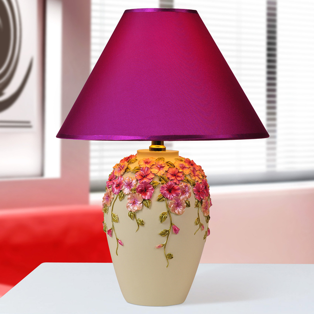 Korea Ikea Bedroom Lamp Bedside Lighting The Study Circle Blue Pink Decorative Small Special Offer Fre