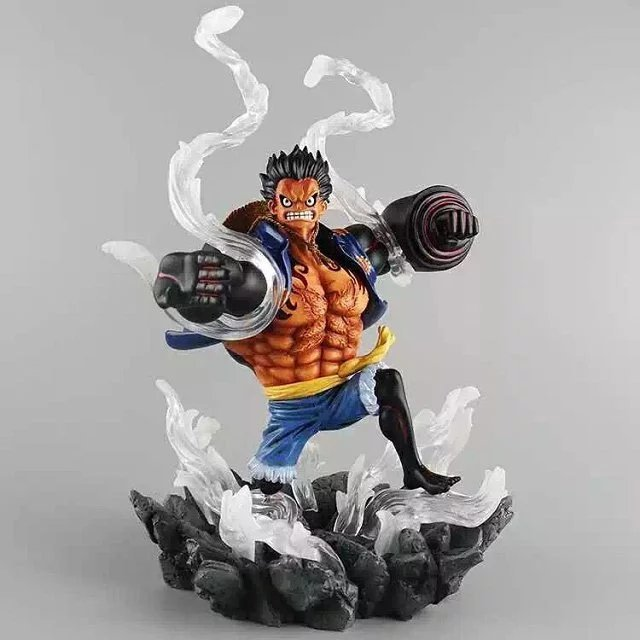 NEW hot 26cm large size One piece Gear fourth Monkey D Luffy action figure toys collection christmas toy doll no box anime one piece monkey d luffy gear fourth pvc action figure collection model toy