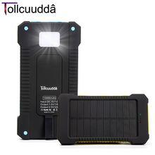 Tollcuudda banco pover solar portátil usb cargador de energía de la batería externa del teléfono móvil powerbank cargador para iphone xiaomi mi