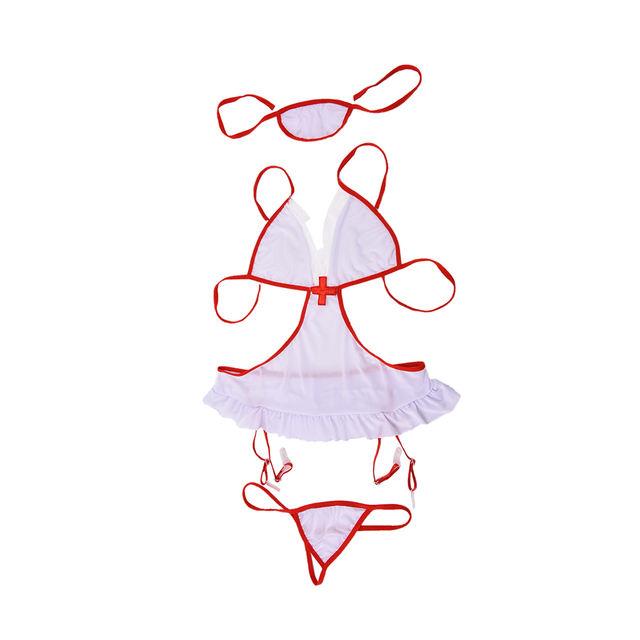 Hot cosplay nurse babydoll temptation erotic costume transparent sexy underwear