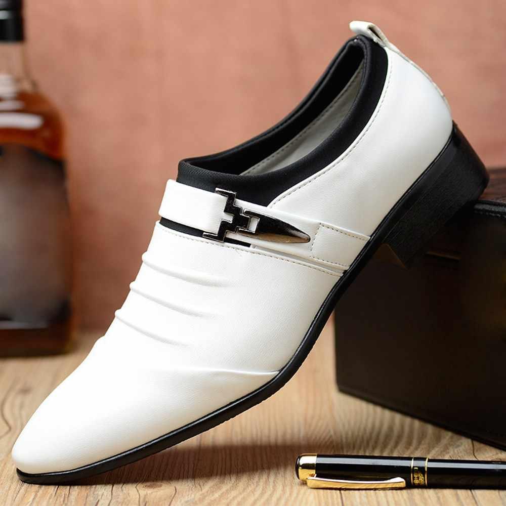 2019 мужские классические модельные туфли на плоской подошве из искусственной кожи с перфорацией в итальянском стиле, классические оксфорды, большие размеры 38-48, для зимы, Dec4
