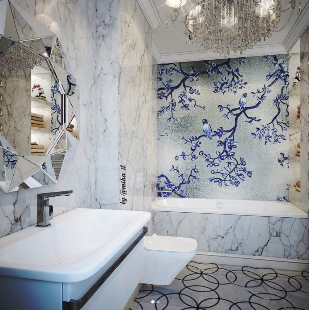 artistic mosaic mural,luxury mosaic design for bathroom,artwork ...