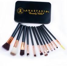 12PCS Makeup Brushes Professional Make Up Brush Set pincel maquiagem For Beauty Blush Contour Foundation Cosmetics