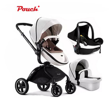 Poussette poussette haute paysage peut s'asseoir ou de s'allonger gonflable portable bébé poussette brouette de roue livraison gratuite