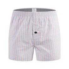 Мужское нижнее белье, боксеры, шорты, Повседневная хлопковая одежда для сна, мужские классические свободные трусы в клетку