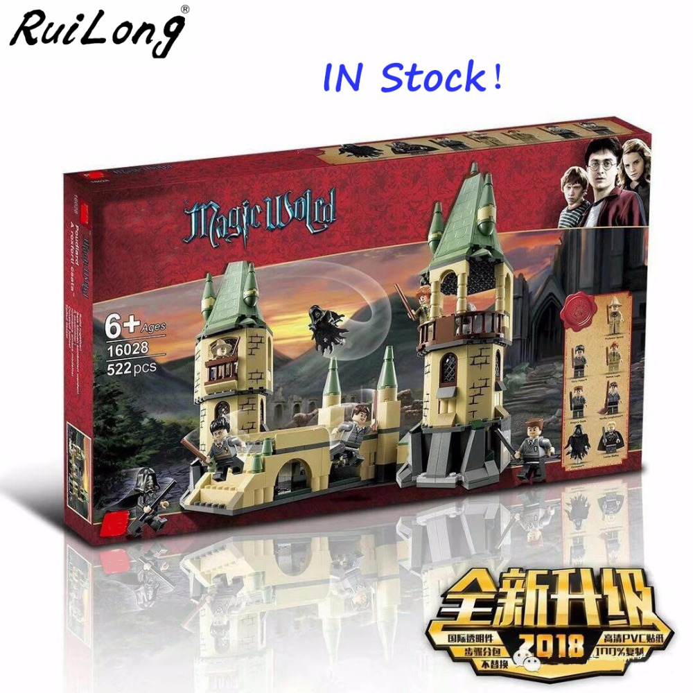 Nuovo Harry Potter Serices Hogwarts Castello Difesa Blocchi di Guerra Mattoni Compatibile Con legoINGLY di Costruzione di Modello Giocattoli Per I Bambini