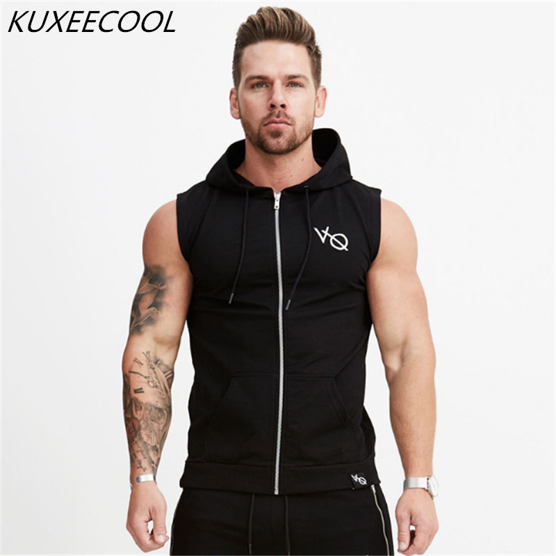 2018 Heißer Verkauf Herbst Männer Hoodiescasual Hoody Sweatshirt Menfashion Marke Hoodie Jacke Männer ärmellose Weste. FüR Schnellen Versand