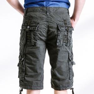 Image 2 - Quân đội Ngụy Trang Cargo Shorts Làm Việc Bermuda Nhiều Túi Thương Hiệu Quần Áo Baggy Shorts Quân Sự 100% Cotton Thường Ngắn Homme 252