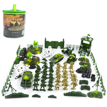 1 set Soldier Army Model DIY Sandbox Game Military Toy Soldier Tank Fighter Action Figures Playset Kit Model Toy For Kids цена