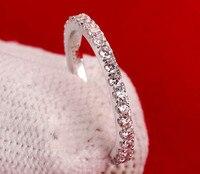 Free Shipping 100 Genuine 14k White Gold Wedding Rings White Gold Wedding Band Pave Wedding Bands