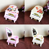 HAOCHU Rose Lovers Clockwork Type Rotary Classical Princess On The Piano Music Box Valentine S Day