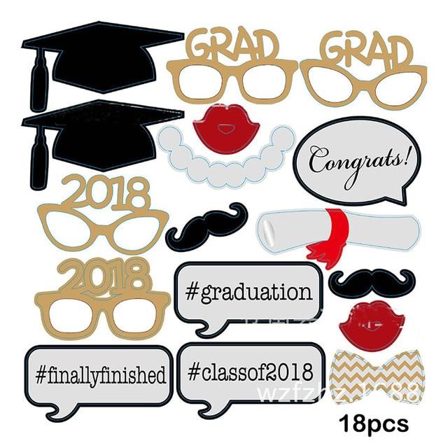 Aliexpress.com : Buy Graduation Party Decoration 2018 Photo Booth ...