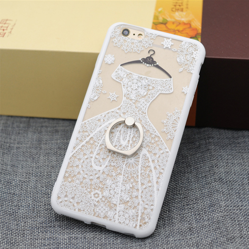 Soft TPU black lace wedding dress Coque phone case for iphone 6S 6plus the back cover for Meizu MX5 MX6 Meilan pro6 note2 note3