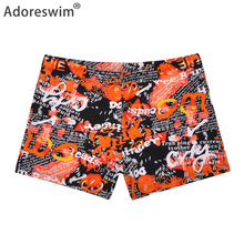 2019 New Mens Swimsuits hot men beach shorts quick dry print swimwear sexy swim trunks briefs sport swimsuit A1037