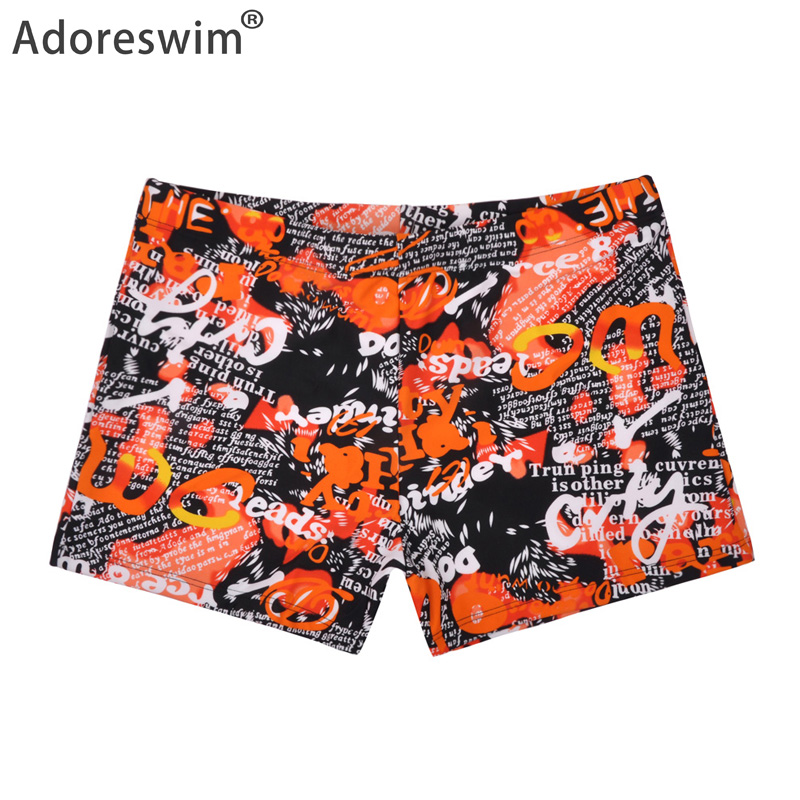 2019 New Men's Swimsuits hot men beach shorts quick dry print swimwear sexy men swim trunks briefs sport men swimsuit A1037